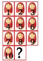 Развивающая игра для детей — «Продолжи ряд чисел»